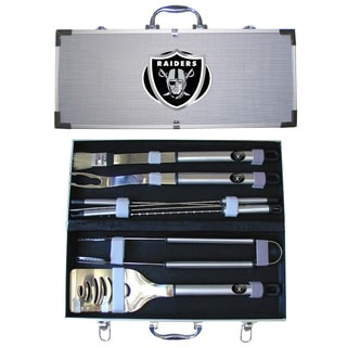 Oakland Raiders 8-Piece Stainless Steel Barbecue Set