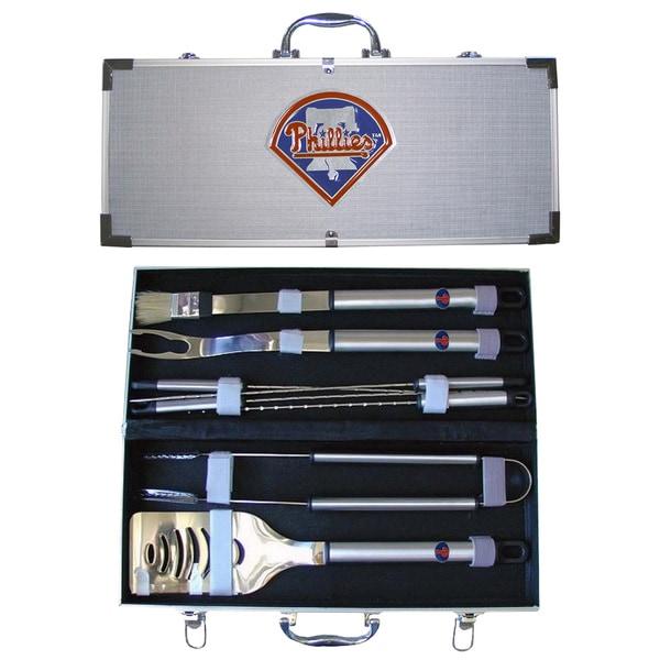 Philadelphia Phillies 8-Piece Stainless Barbecue Set