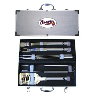 Atlanta Braves 8-Piece Stainless Steel Barbecue Set
