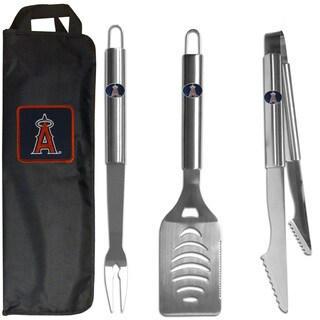 Los Angeles Angels 3-Piece Stainless Steel Barbecue Set