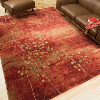 Nourison Somerset Flame Area Rug (7'9 x 10'10)