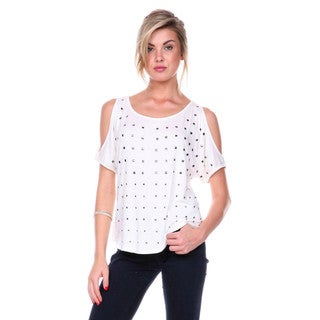 Stanzino Women's Studded Off Shoulder Top