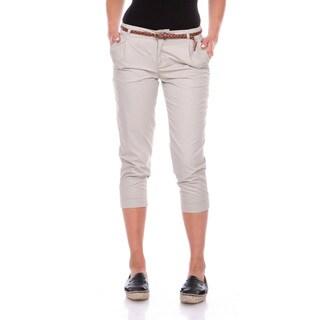 Stanzino Women's Belted Capri Pants