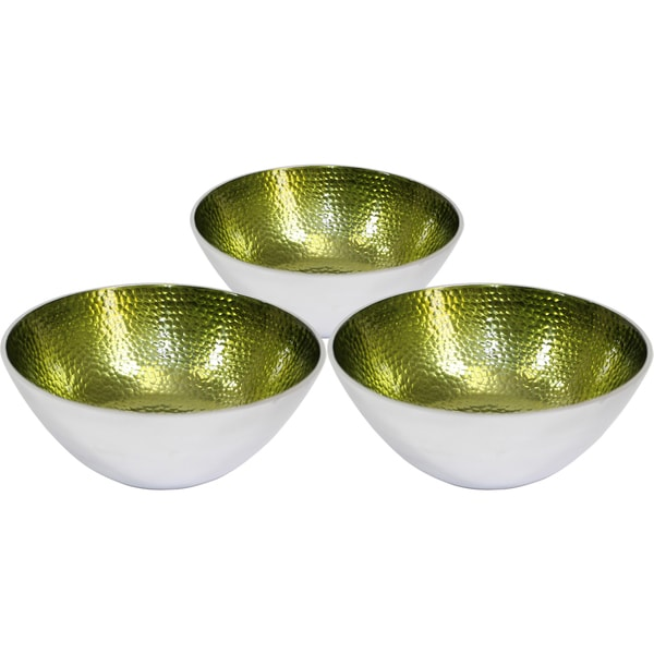 Small Round Green Bowls (Set of 3)