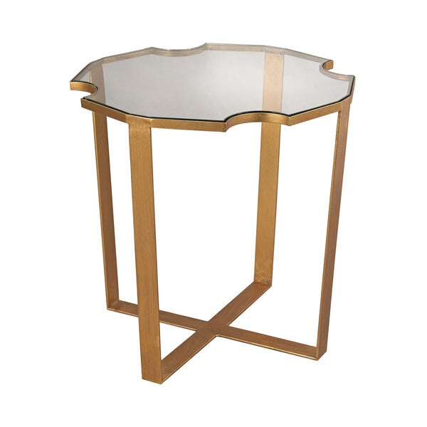 LS Dimond Home Cutout Top Side Table
