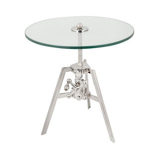 LS Dimond Home Nickle Tripod Side Table