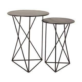 LS Dimond Home Geometric Metal Accent Tables