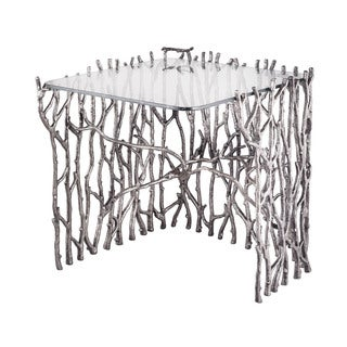 LS Dimond Home Small Silvered Sticks Side Table