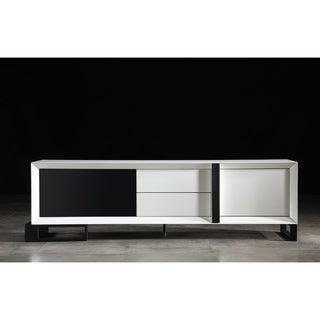 B-Modern Entertainer White/ Black Modern IR TV Stand