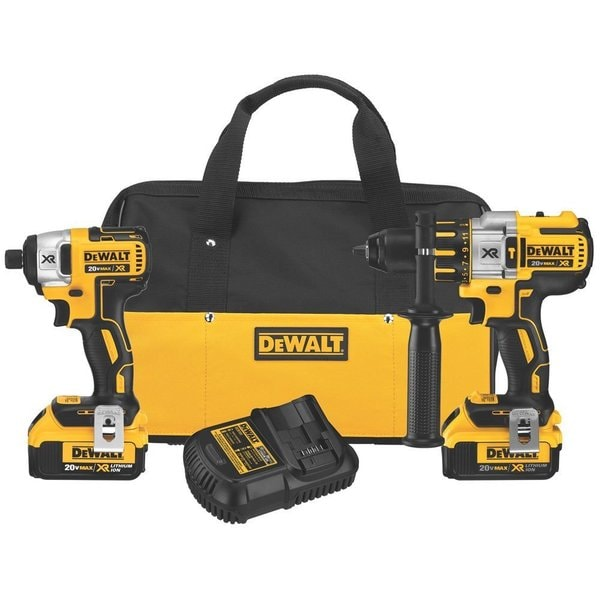 Factory-Reconditioned Dewalt DCK296M2R 20V MAX Cordless Lithium-Ion Hammer Drill and Impact Driver Combo Kit