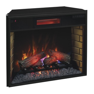 ClassicFlame 28II300GRA 28-inch Infrared Quartz Fireplace Insert with Safer Plug