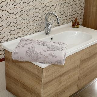 Jacquard Woven Silver Cloud Luxurious Turkish Cotton Bath Sheet