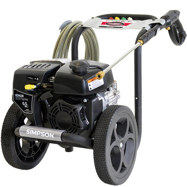Simpson Mega Shot 3000 PSI 2.4 GPM Kohler OHV Engine, Axial Cam Pump Gas Pressure Washer California Compliant