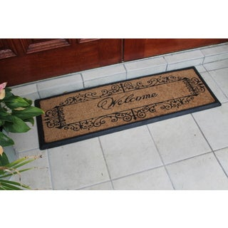 Rubber and Coir 'Artistic Welcome' Double Doormat