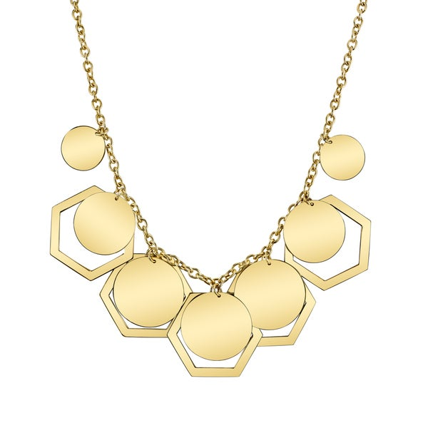 SERAFINA Hexagon Yellow Necklace