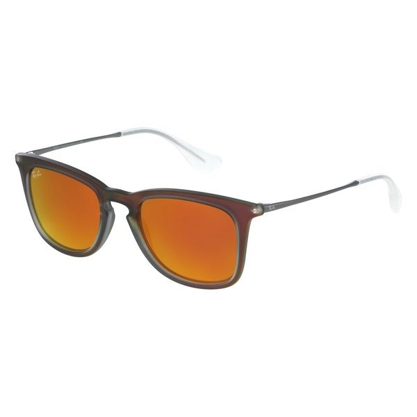 Ray-Ban RB4221 Sunglasses Shot Red Brown Mirror & Orange
