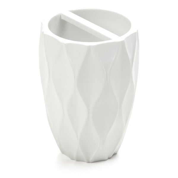 Wave White Toothbrush Holder