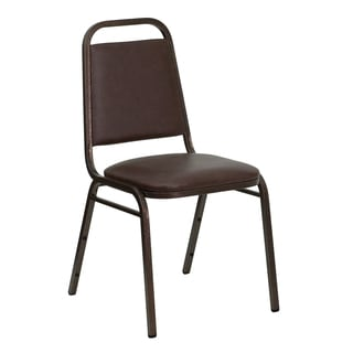 Rosemary Brown Upholstered Stack Dining Chairs