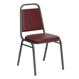 Rosemary Burgundy Upholstered Stack Dining Chairs