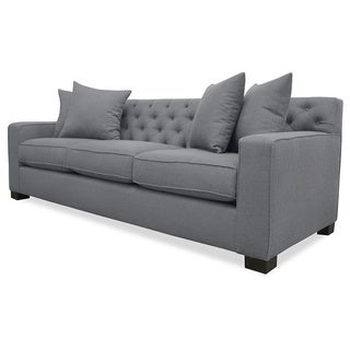 Cassandra Tufted Premium Linen Down Wrapped Sofa