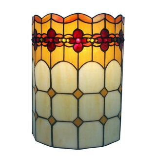 Amora Lighting Tiffany Style Double-light Floral Wall Sconce