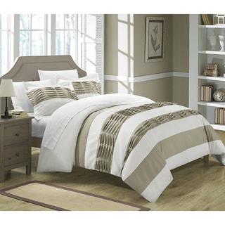 Chic Home Oxford Pleated Applique 7-piece Duvet Set