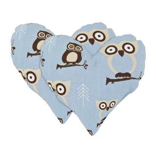 Hooty Heart Shaped Owl Pillow (Set of 2)