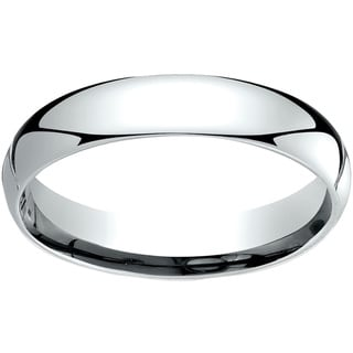 18k White Gold 4mm Comfort-Fit Wedding Band