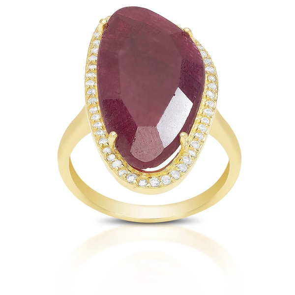 Dolce Giavonna Sterling Silver Gemstone Ring