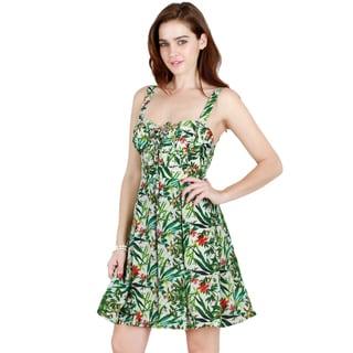 Nikibiki Women's Tropical Fit and Flare Dress