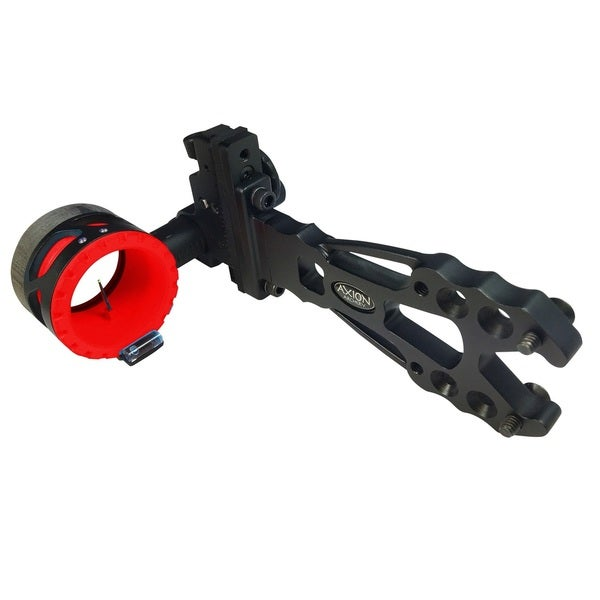 Axion Shift Single Pin Sight .019-inch Black with Red Guard Ring