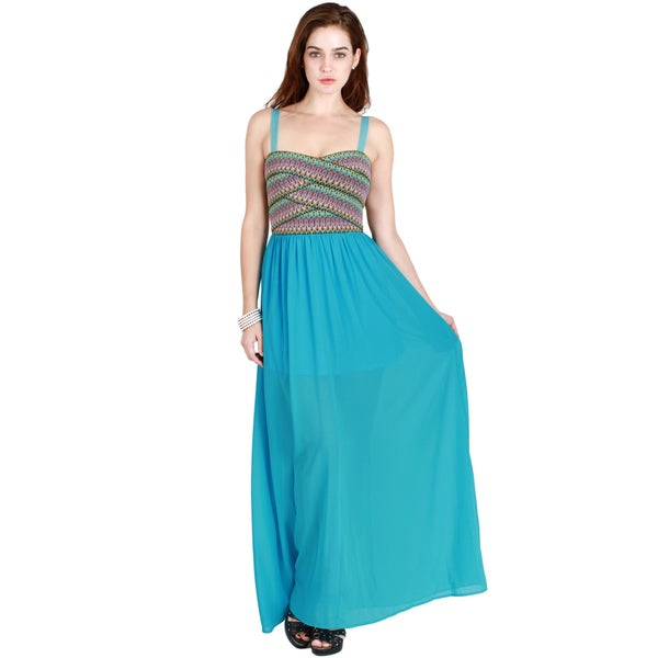 Nikibiki Women's Zig Zag Bandage Contrast Maxi Dress
