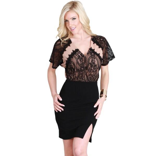 Nikibiki Women's Cut Out Lace Twofer Dress