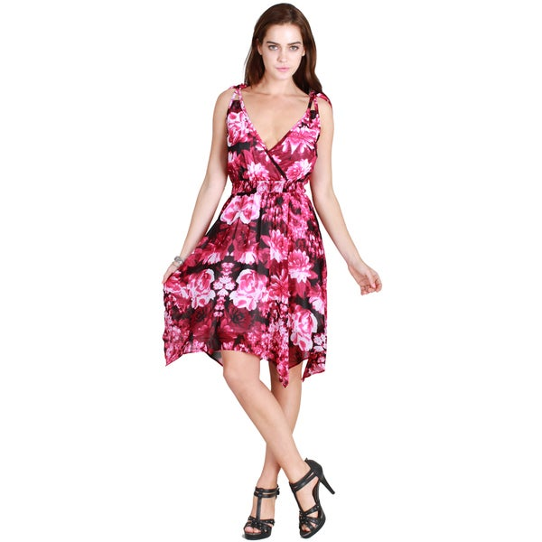 Nikibiki Women's Tie Shoulder Floral Dress