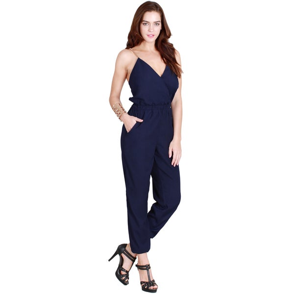 Nikibiki Women's Surplice Long Jumpsuit