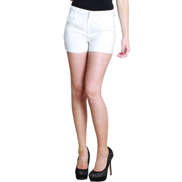 Nikibiki Women's Linen Beaded Shorts