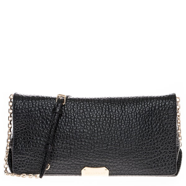 Burberry Signature Grain Leather Clutch Bag