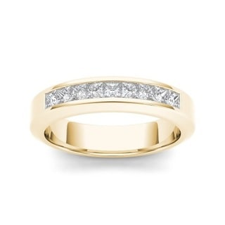 De Couer 14k Yellow Gold 1ct TDW Diamond Men's Band (H-I, I2)