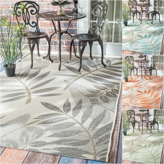 nuLOOM Modern Floral Outdoor/ Indoor Porch Rug (5'3 x 7'6)