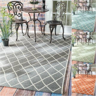 nuLOOM Modern Trellis Outdoor/ Indoor Porch Rug (5'3 x 7'6)
