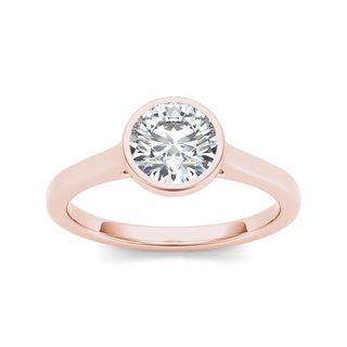 De Couer 14k Rose Gold 1ct TDW Diamond Exquisite Engagement Ring (H-I, I2)