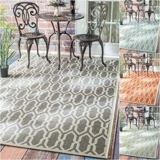 nuLOOM Modern Trellis Outdoor/ Indoor Porch Rug (5'3 x 7'6)