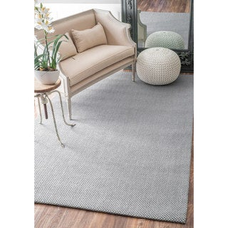 nuLOOM Casual Natural Fiber Solid Sisal Silver Rug (5' x 8')