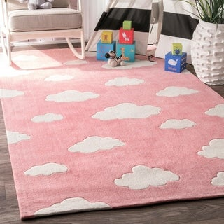 nuLOOM Handmade Modern Clouds Kids Area Rug