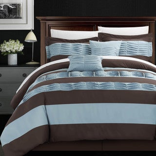 Chic Home Oxford Pleated Applique 10-piece Comforter Set