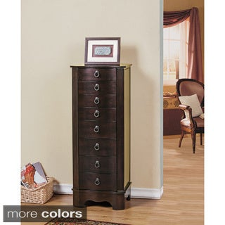 W Unlimited Berkeley Drawers Jewelry Armoire with Compartment Mirror