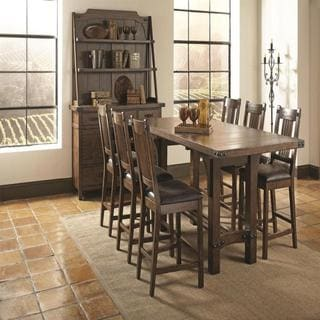 Bastille Brown 8-piece Counter Height Dining Set