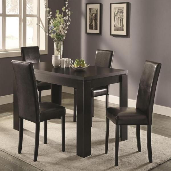 Belmont Black 5-piece Dining Set