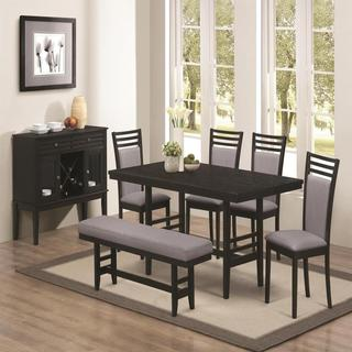 Palo Alto Black 7-piece Dining Set