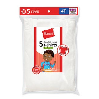 Hanes Toddler Boy's 5-pack Crew Undershirts
